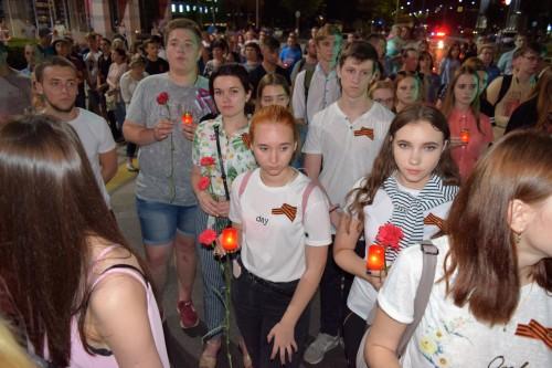 Участие в городской акции «Свеча памяти»